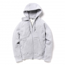 ENGINEERED GARMENTS / エンジニアドガーメンツ | EG Workaday Raglan Zip Hoody - Grey