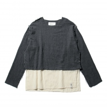 ....... RESEARCH | Muslin Shirt - Wool Viera - Charcoal Gray
