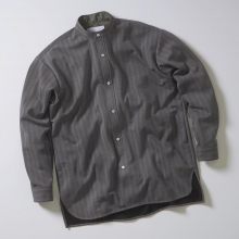 CURLY / カーリー | PROSPCT L/S BAND SHIRTS Herringbone - Gray Hb