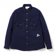and wander / アンドワンダー | thermo nell shirt (M) - Navy