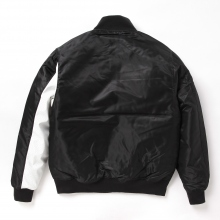 GOODENOUGH / グッドイナフ | VARSITY JACKET - Black / White
