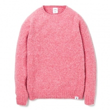 BEDWIN / ベドウィン | C-NECK SHAGGY SWEATER 「LECKIE」 - Pink