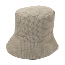 ENGINEERED GARMENTS / エンジニアドガーメンツ | Bucket Hat - Nyco Mini Tattersall - Khaki