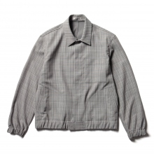 AURALEE / オーラリー | HARD TWIST WOOL DOUBLE FACE CHECK BLOUZON - Gray Check