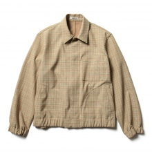 AURALEE / オーラリー | HARD TWIST WOOL DOUBLE FACE CHECK BLOUZON - Beige Check