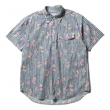 ENGINEERED GARMENTS / エンジニアドガーメンツ | Popover BD Shirt - Floral St. Print - Navy