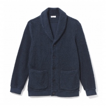 NAISSANCE / ネサーンス|SHAWL COLLAR PILE JACKET - Navy