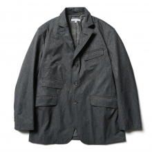 ENGINEERED GARMENTS / エンジニアドガーメンツ | Andover Jacket - Polyester Microfiber - H.Charcoal
