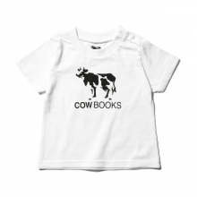 COW BOOKS / カウブックス | Kids Tshirt - White × Black