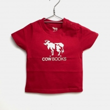 COW BOOKS / カウブックス | Kids Tshirt - Red × Ivory