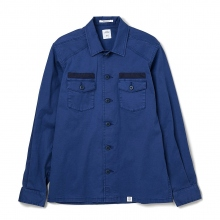 BEDWIN / ベドウィン | L/S MILITARY SHIRT 「CLIFF」 - Navy