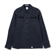 BEDWIN / ベドウィン | L/S MILITARY SHIRT 「CLIFF」 - Black