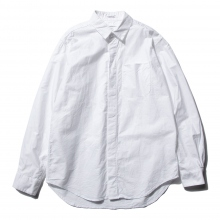 ENGINEERED GARMENTS / エンジニアドガーメンツ | Short Collar Shirt - Solid Cotton Oxford - White