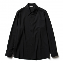 HARD TWIST WOOL DOBBY SHIRTS - Dark Navy