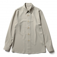 AURALEE / オーラリー | HARD TWIST WOOL DOBBY SHIRTS - Light Gray