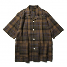 Needles / ニードルズ | Cabana Shirt - C/L Cloth / Plaid - Dk.Brown / Olive