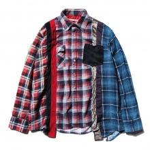 Rebuild by Needles / リビルド バイ ニードルズ | 7 Cuts Flannel Shirt - Inserted 4 Cluths - Mサイズ