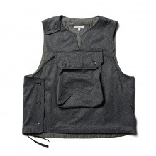 ENGINEERED GARMENTS / エンジニアドガーメンツ | Cover Vest - Polyester Microfiber - H.Charcoal