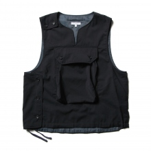 ENGINEERED GARMENTS / エンジニアドガーメンツ | Cover Vest - Tropical Wool - Dk.Navy