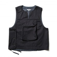 ENGINEERED GARMENTS / エンジニアドガーメンツ | Cover Vest - High Count Twill - Dk.Navy