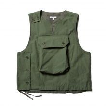 ENGINEERED GARMENTS / エンジニアドガーメンツ | Cover Vest - Cotton Ripstop - Olive
