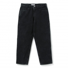 Living Concept / リビングコンセプト | 5POCKET WIDE DENIM PANTS / BLACK BIO WASH - Black