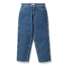 Living Concept / リビングコンセプト | 5POCKET WIDE DENIM PANTS / BIO WASH - Blue ★