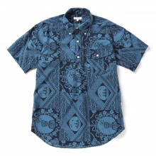 ENGINEERED GARMENTS / エンジニアドガーメンツ | Popover BD - Ethnic Print - Blue / Navy