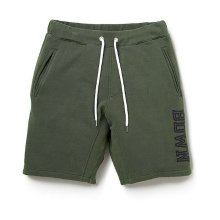 BEDWIN / ベドウィン | SHORT SWEAT PANTS 「CRAIG」 - Olive