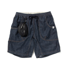 and wander / アンドワンダー | dry denim easy shorts pants (M) - Navy