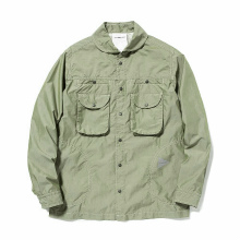 and wander / アンドワンダー | dry typewriter shirt jacket (M) - Khaki