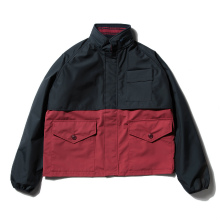 【Point 10% 5/26まで】....... RESEARCH | Short Rain Jacket - Navy × Wine